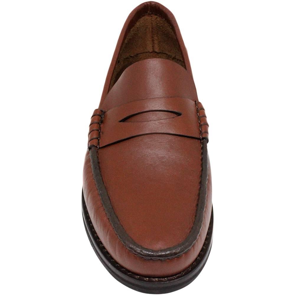 Sapato Masculino Mocassim Solado em Borracha cor Pinhão 066MPJPIN