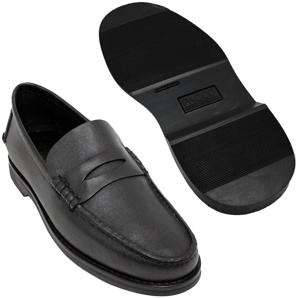 Sapato Masculino Mocassim Solado em Borracha 066MPJPRE