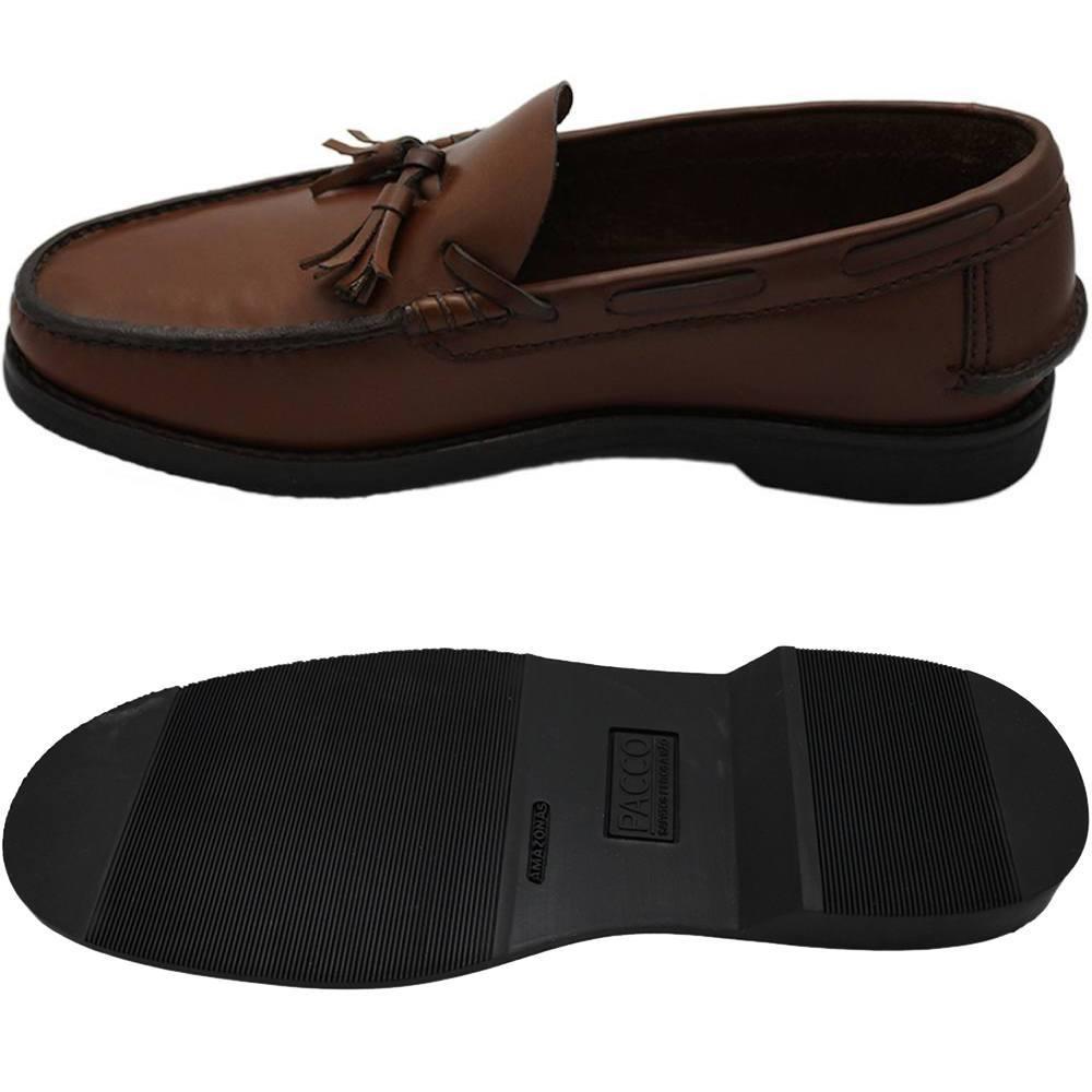 Sapato Masculino Mocassim Solado em Borracha cor Havana 060BCAS