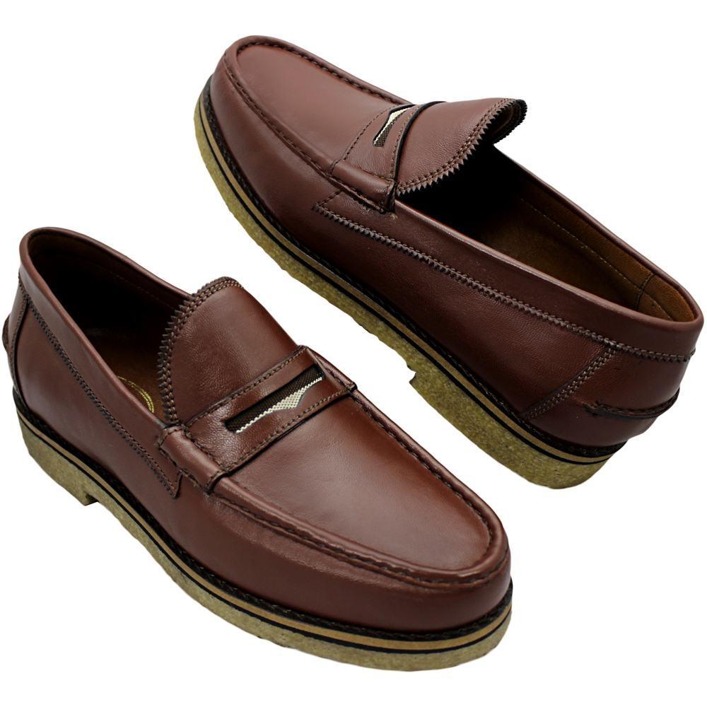 Sapato Masculino Mocassim Solado em Crepe Natural 099ATHOSHAV