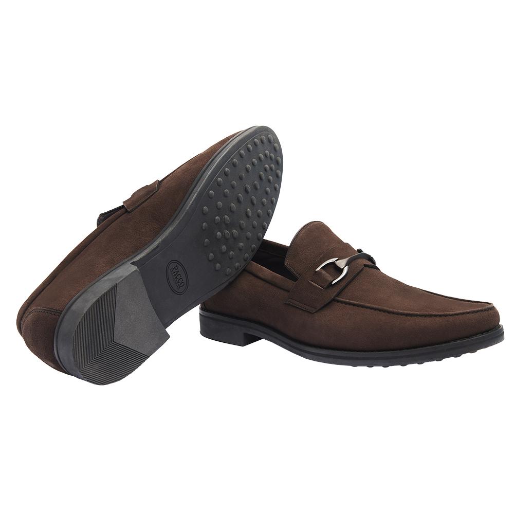 Sapato Masculino Outono Inverno Loafer Horsebit em Camurça 111BDCAMCAF Luigi