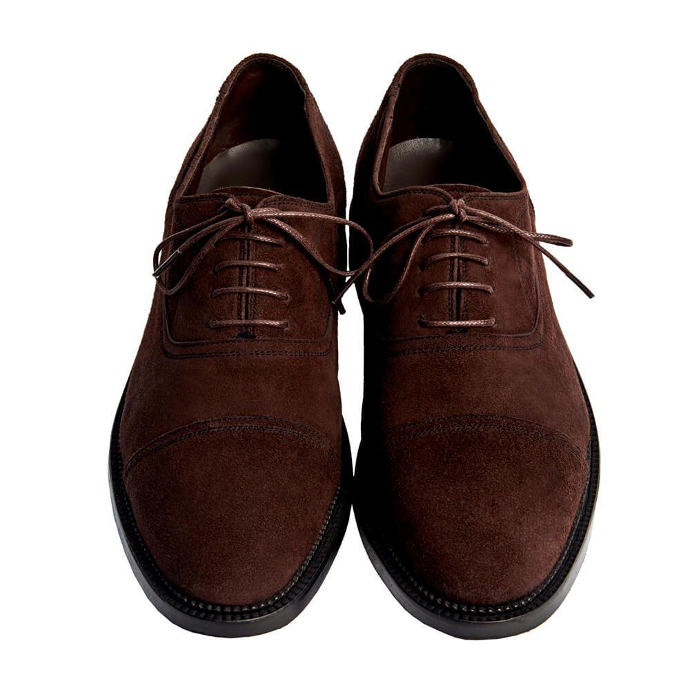 Sapato Masculino Outono Inverno Oxford Cap Toe em Camurça 299CAMCAF