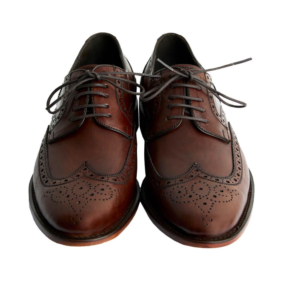 Sapato Masculino Derby Brogue cor Mogno 2100MOG