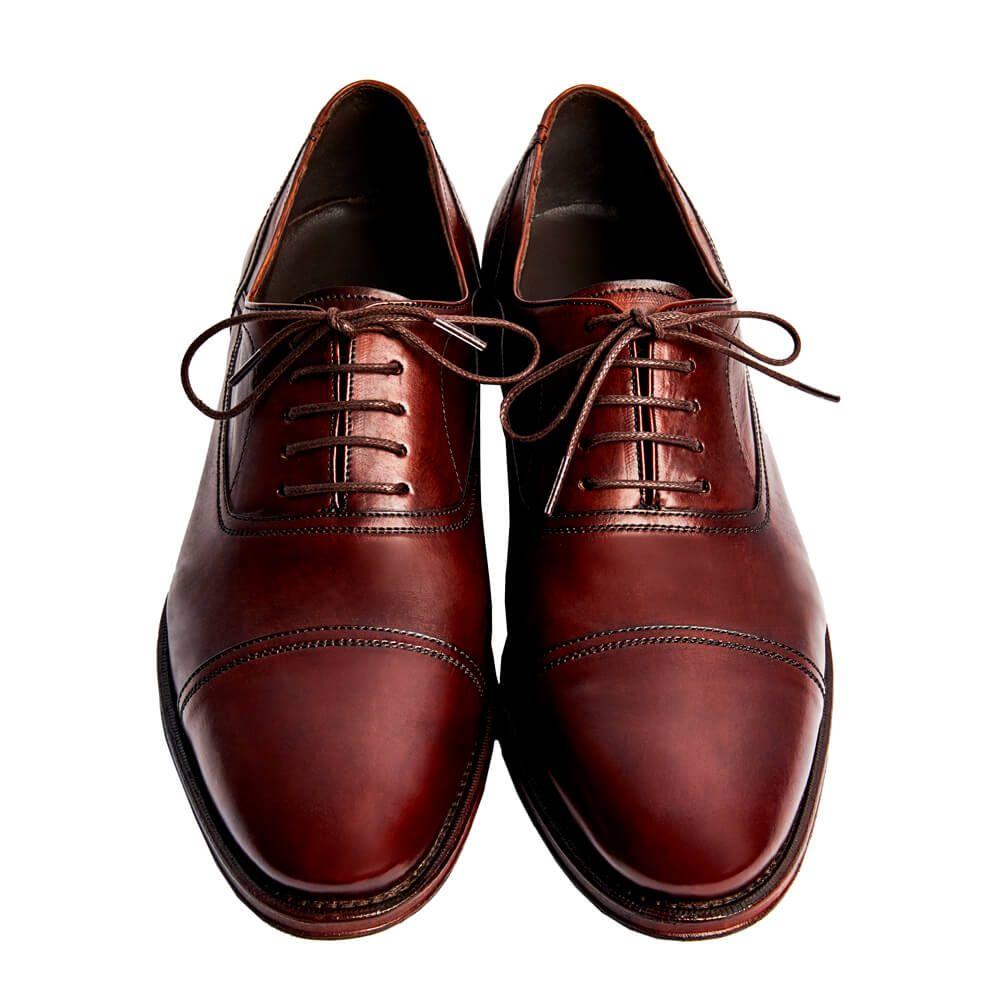 Sapato Masculino Oxford Cap Toe cor Mogno 299CDMOG