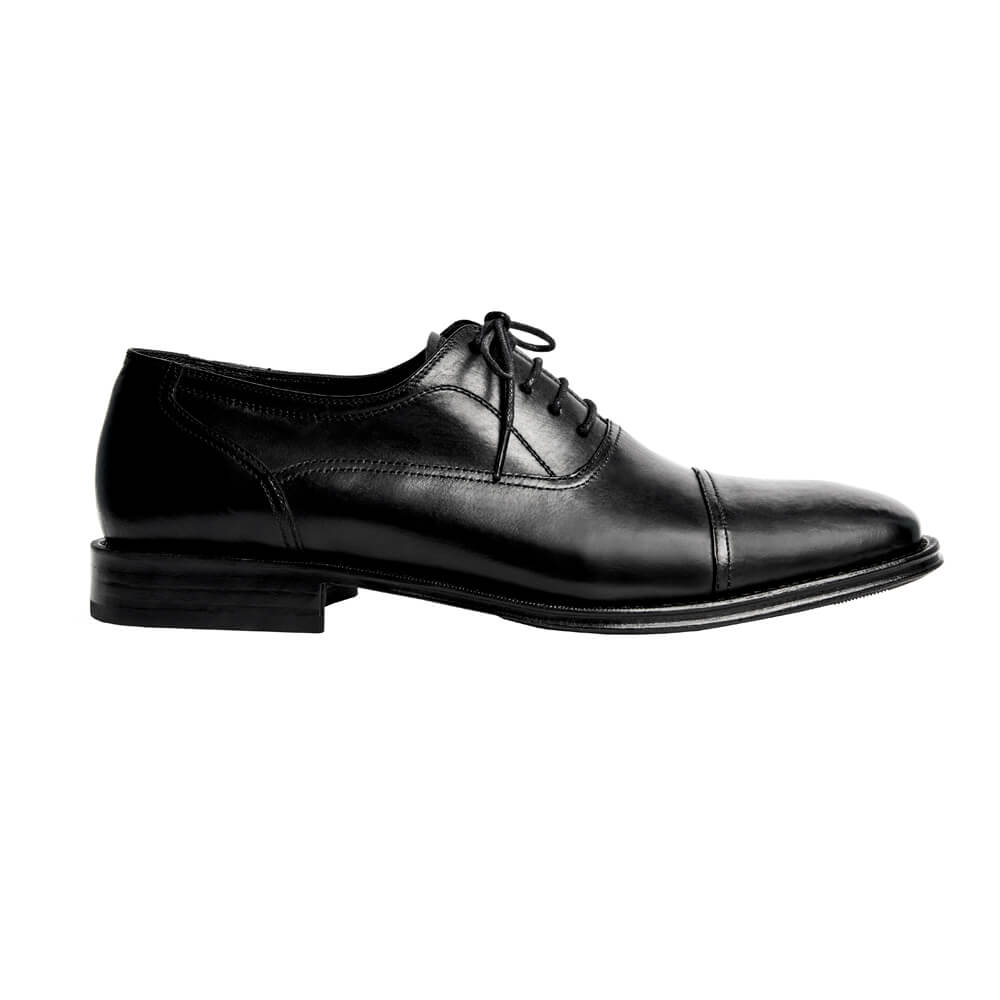 Sapato Masculino Oxford Cap Toe Cor Preto 299CDPRE