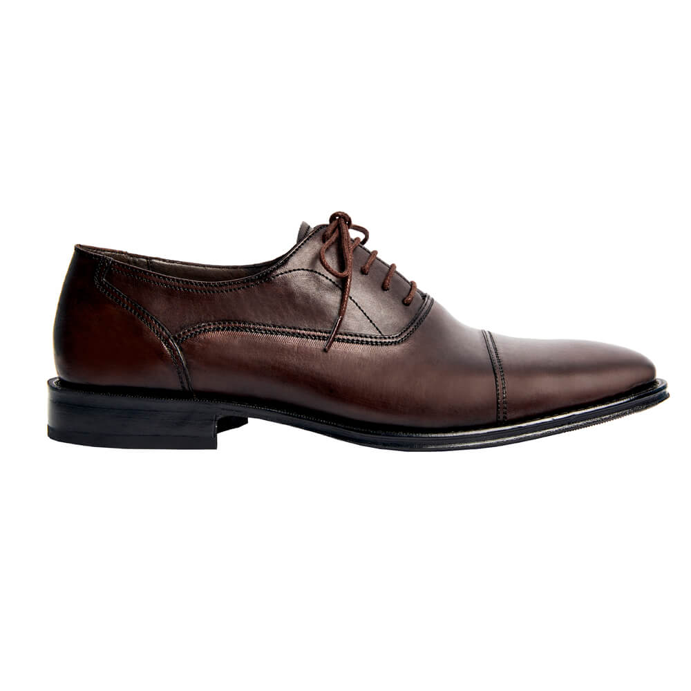 Sapato Masculino Oxford Cap Toe Marrom Café 299CDCAF