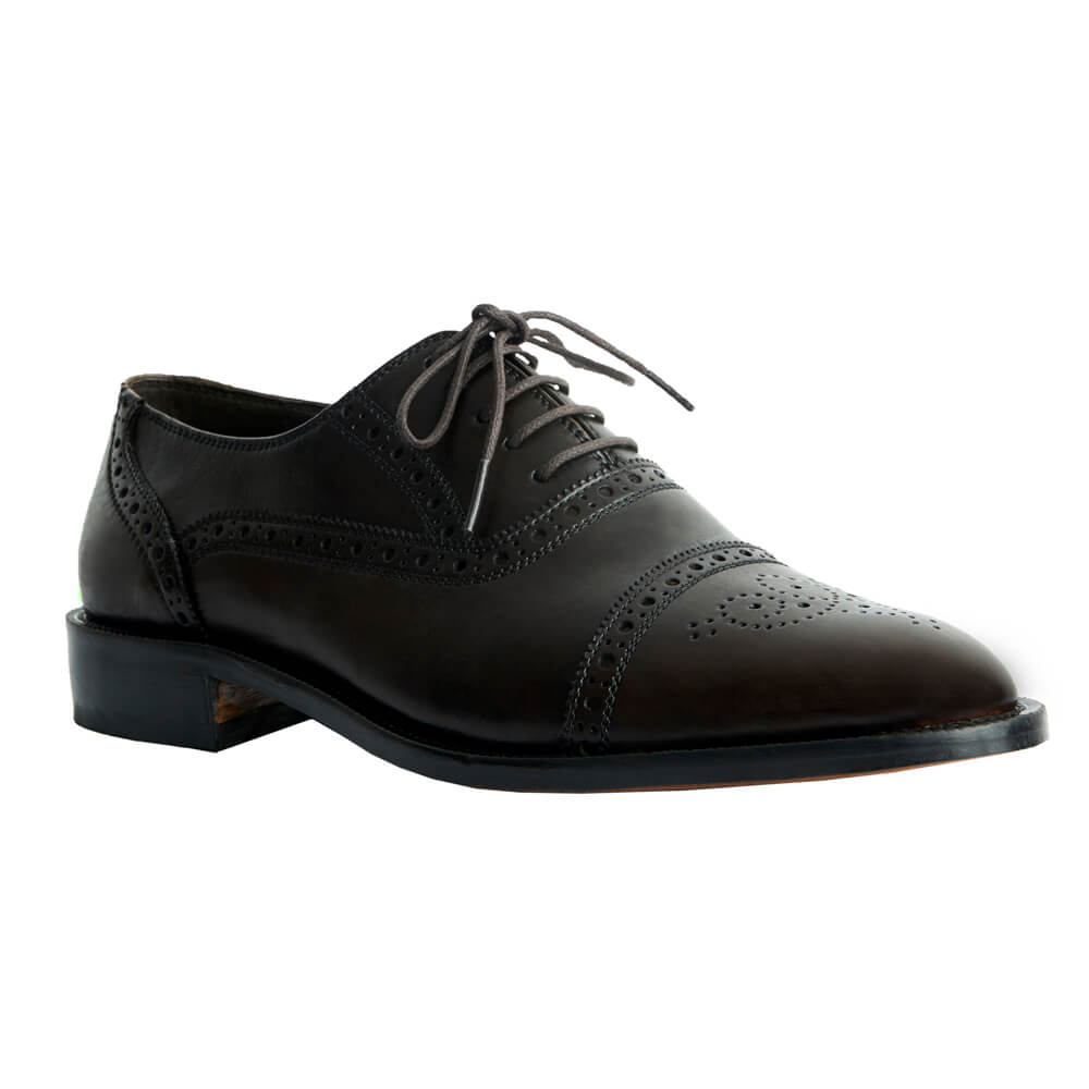 Sapato Masculino Oxford Captoe estilo Inglês cor Avelã 299INGCAF