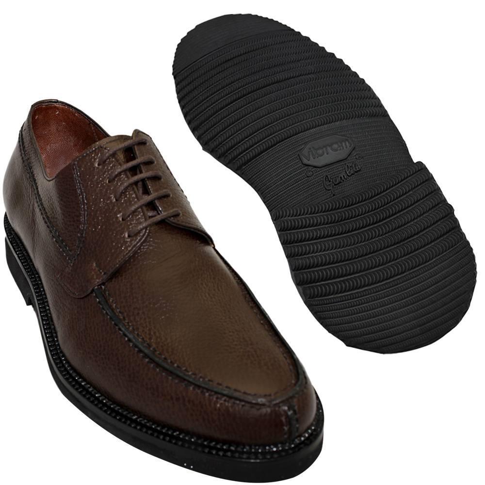 Sapato Masculino Derby Marrom Café Solado Leve 214/900GRCAF