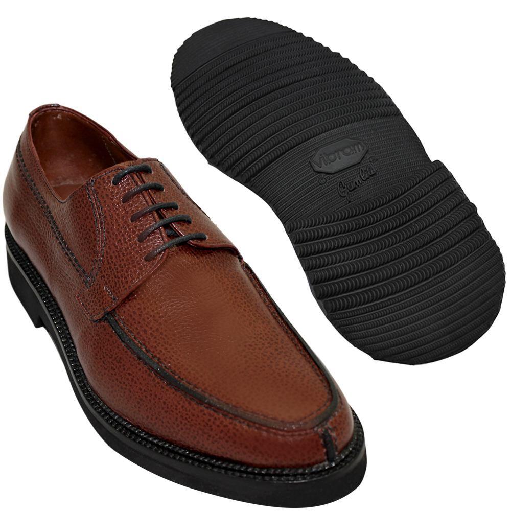 Sapato Masculino Derby Cor Pinhão Solado em Borracha 214/900GRPIN