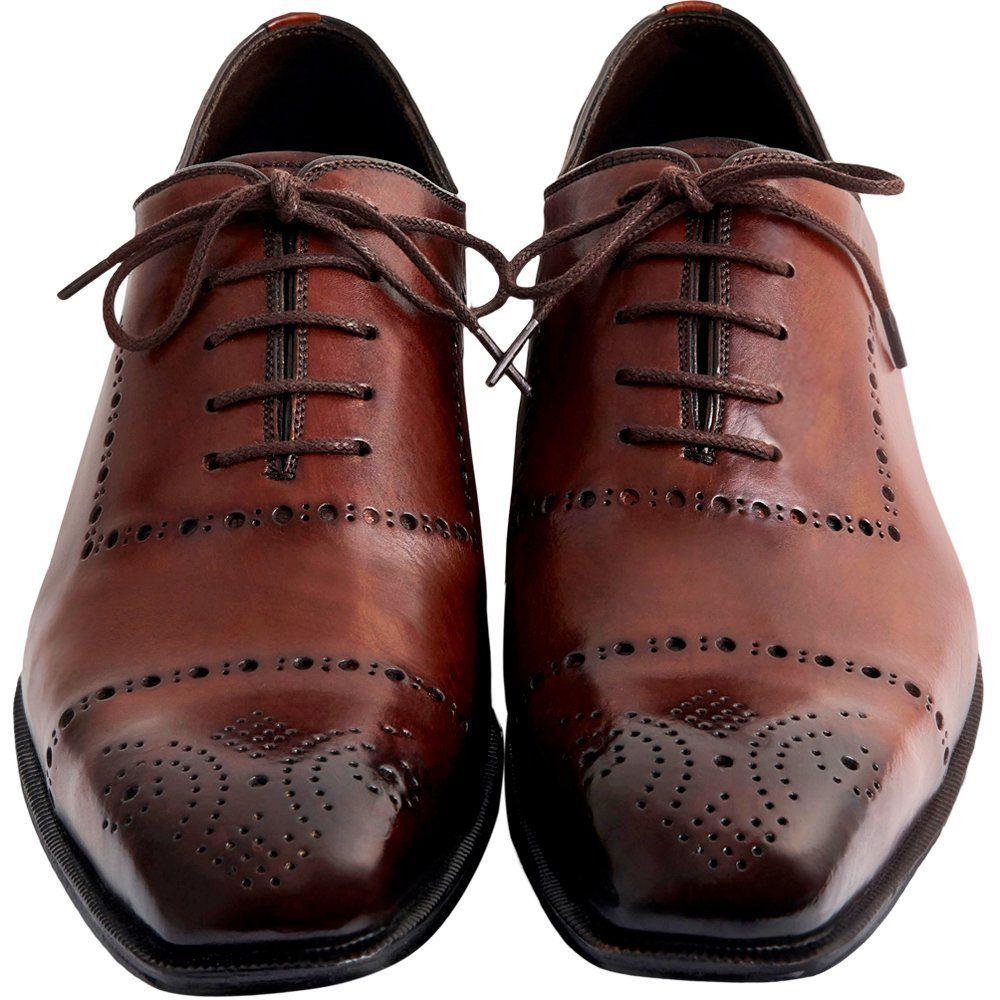 Sapato Masculino Oxford Social Exclusivo Pacco cor Mogno 4090MOG