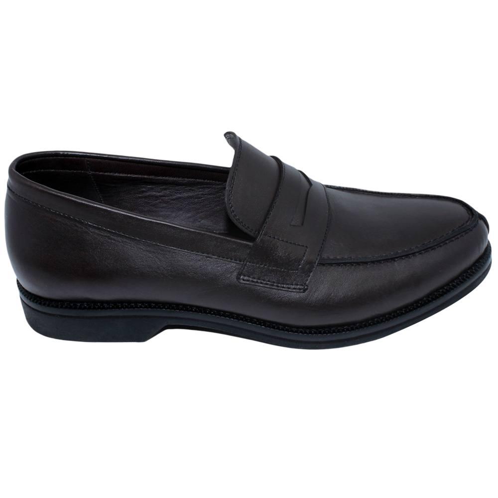 Sapato Masculino Penny Loafer Cor Marrom Café 900MCAF