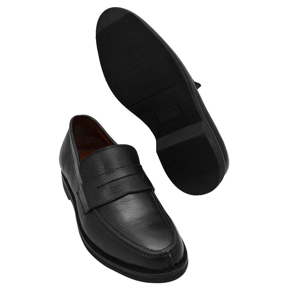 Sapato Masculino Penny Loafer Couro Granulado Preto 900MGRPRE
