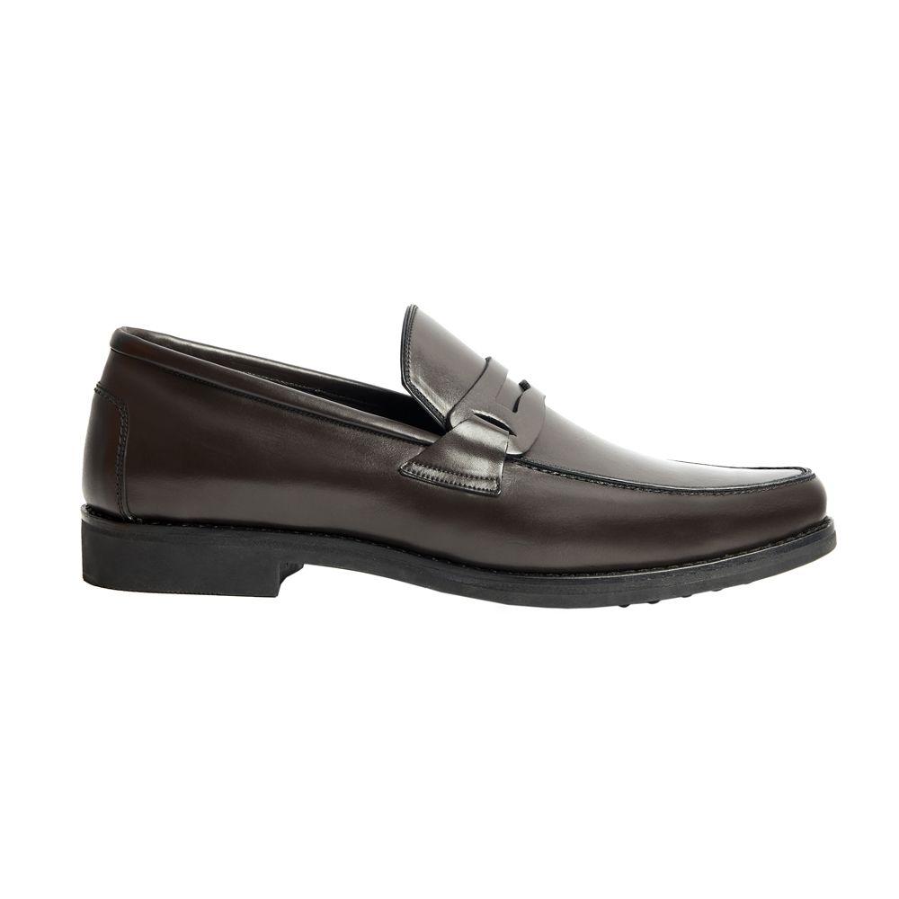 Sapato Masculino Loafer Marrom Café Solado em Borracha 111MB570CAF