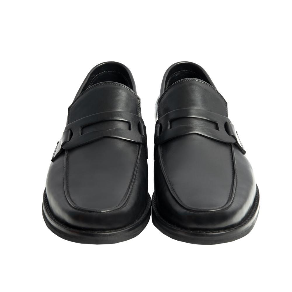 Sapato Masculino Social Loafer Preto Solado em Borracha 111MB570PRE