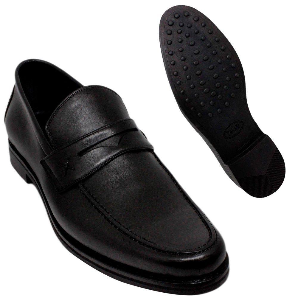 Sapato Masculino Preto Penny Loafer Sola de Borracha 111MBPRE Amancio