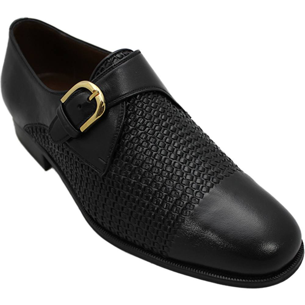 Sapato Masculino Social Monk cor Preto 058TR