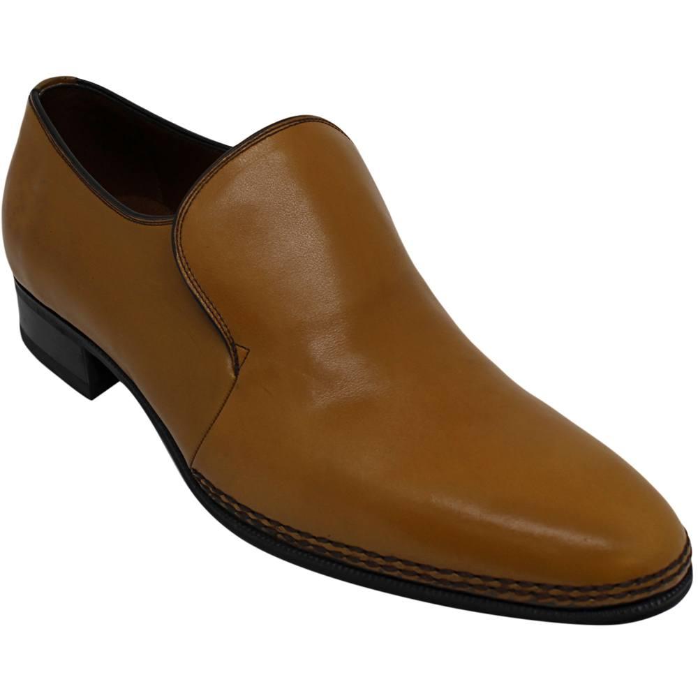 Sapato Masculino Social em Cromo Alemão Cor Ocre 110LCL
