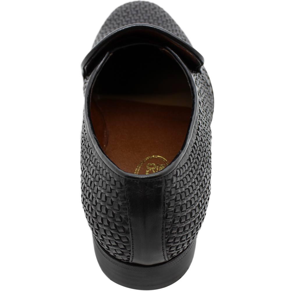 Sapato Masculino Social Confortável em Tresse cor Preto 110TRSPRE