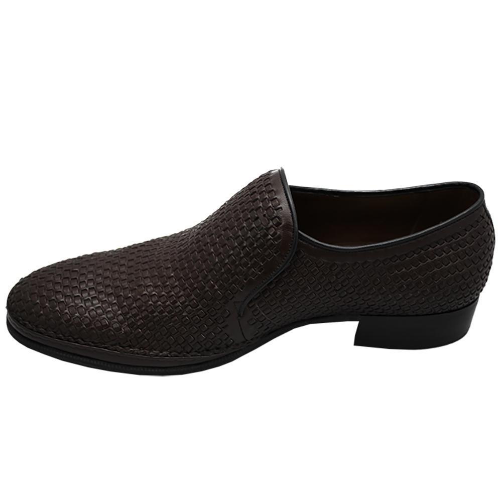 Sapato Masculino Social Confortável em Tresse cor Marrom Café 110TRSMAR