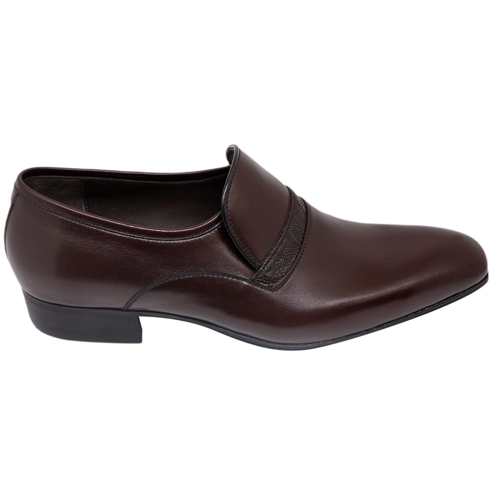 Sapato Masculino Social Marrom Bico Alongado 021MAR