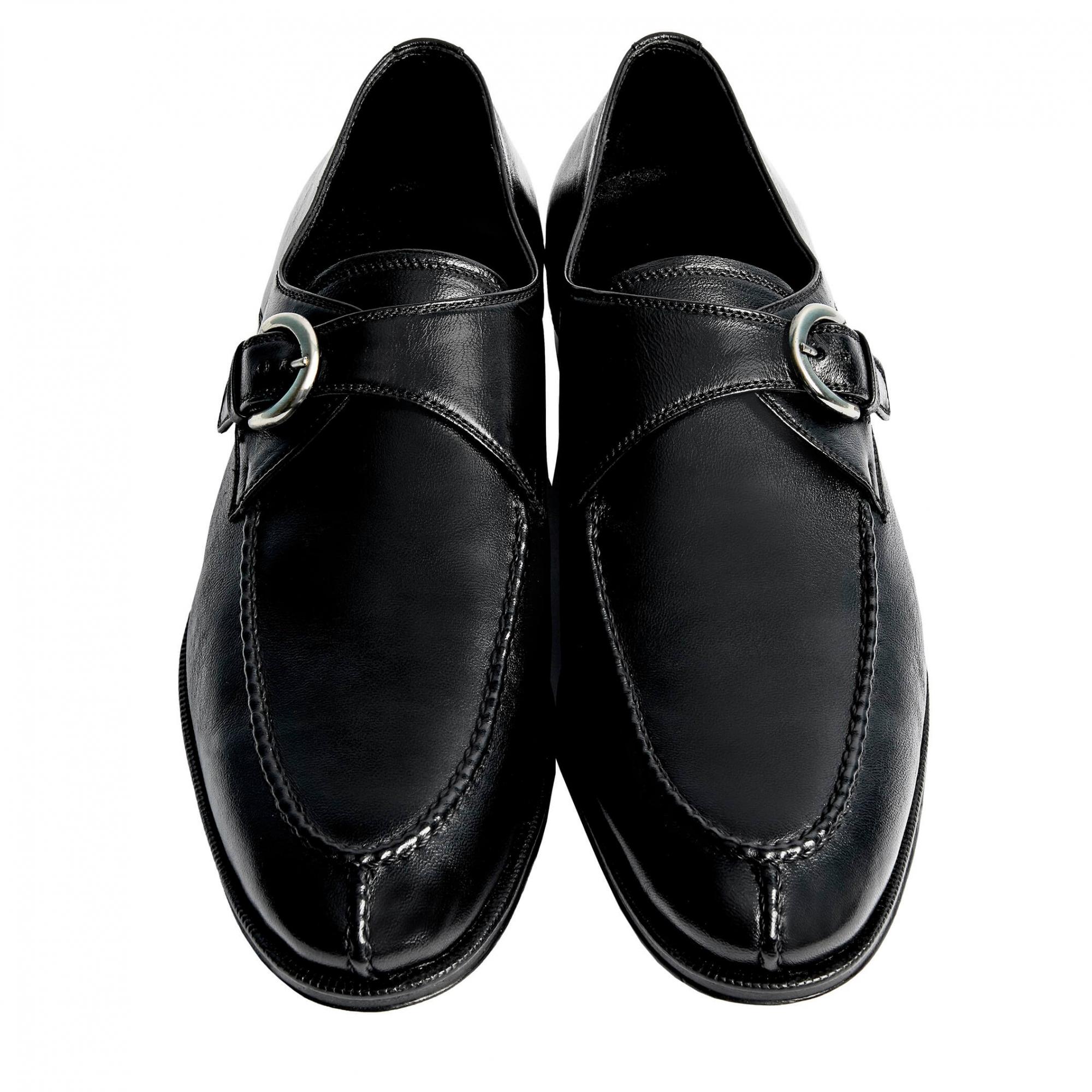 Sapato Masculino Social Monk cor Preto 6000MACPRE Santiago