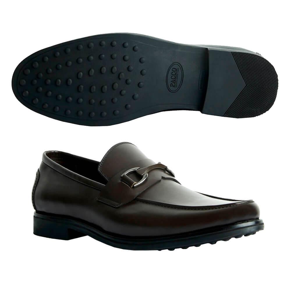 Sapato Masculino Social Sola de Borracha cor Marrom Café 111BDCAF