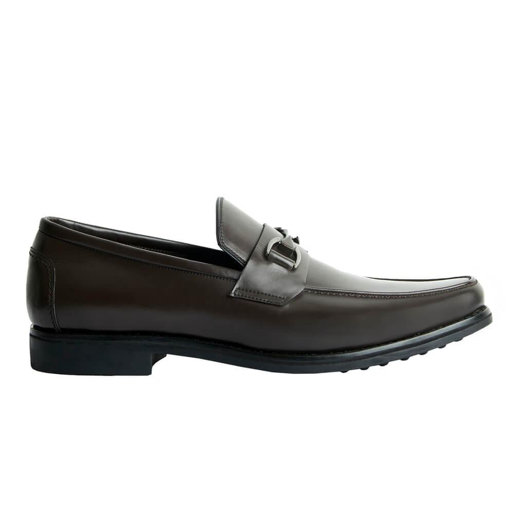 Sapato Masculino Loafer Solado em Borracha cor Marrom Café 111BDCAF