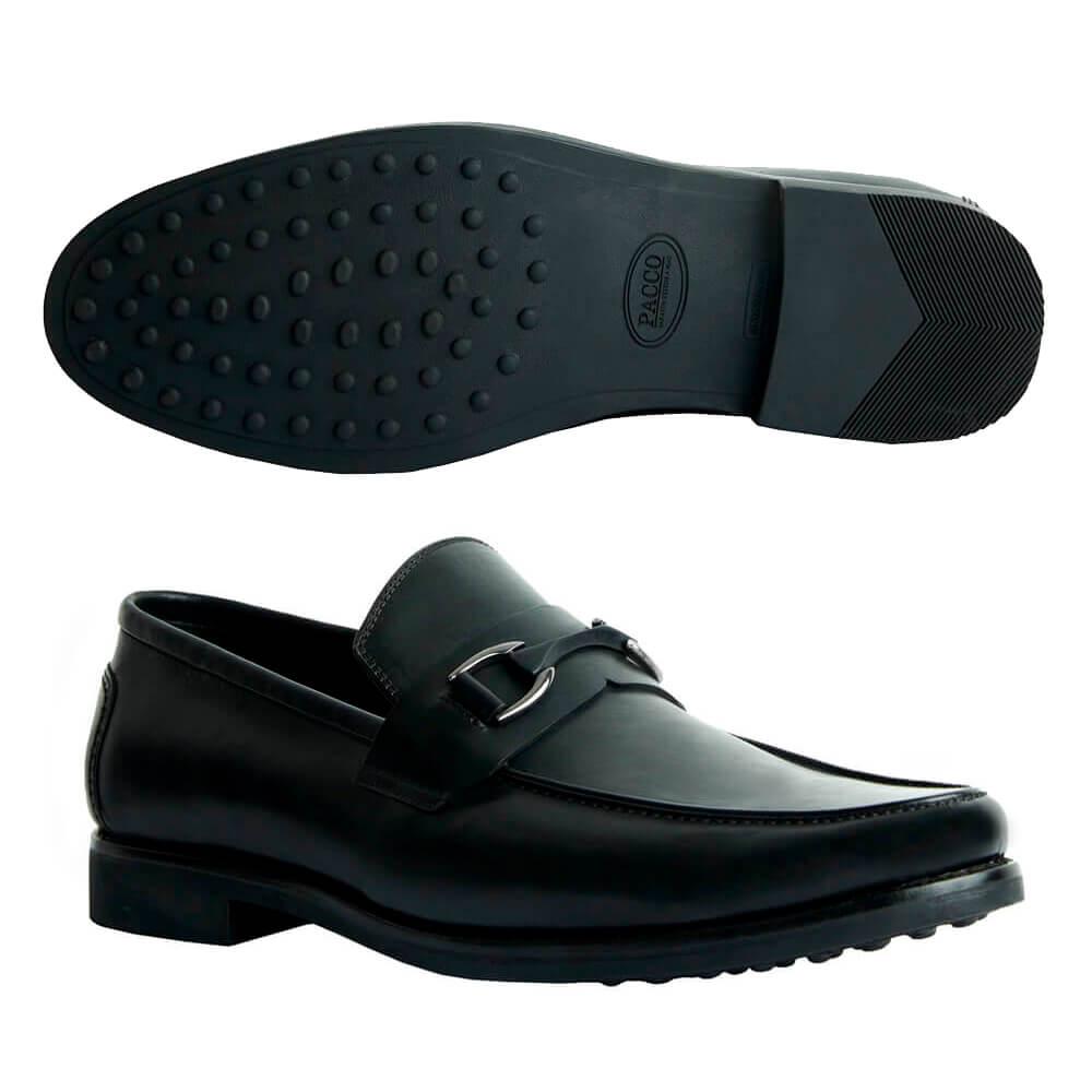 Sapato Masculino Social Sola de Borracha cor Preto 111BDPRE