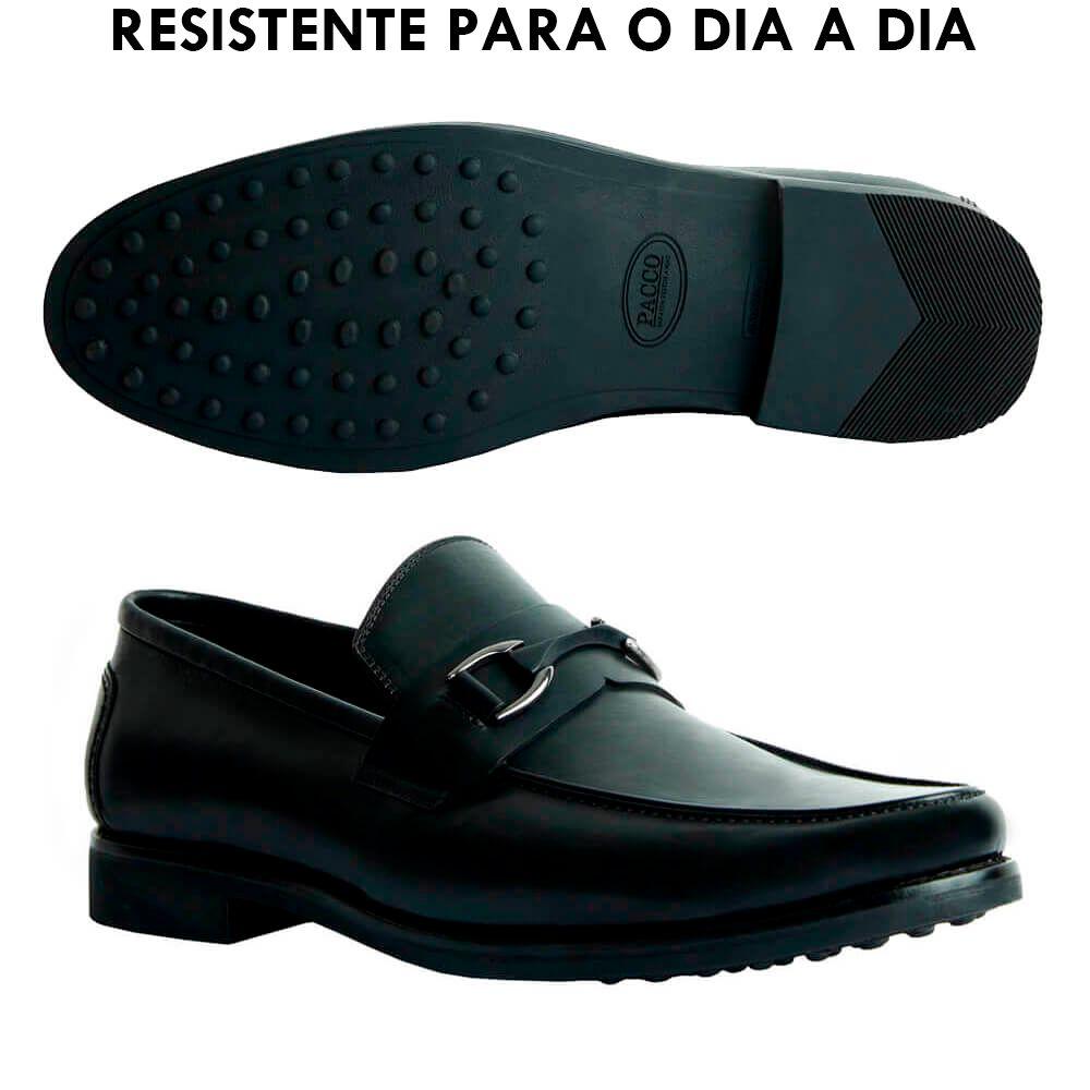 Sapato Masculino Loafer Solado em Borracha cor Preto 111BDPRE