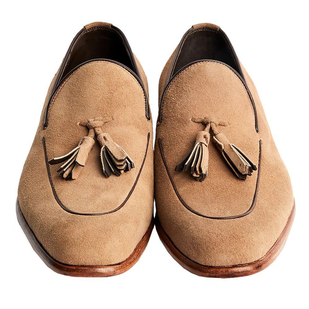 Sapato Masculino Tassel Loafer em Camurça 4001PCAMTAU
