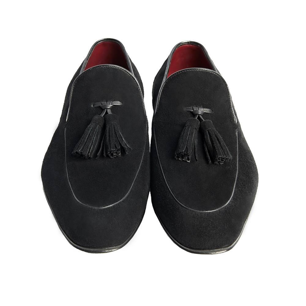 Sapato Masculino Tassel Loafer em Camurça cor Preto 4001PCAMPRE