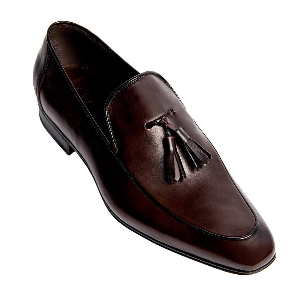 Sapato Masculino Tassel Loafer cor Marrom Café 4001PCAF