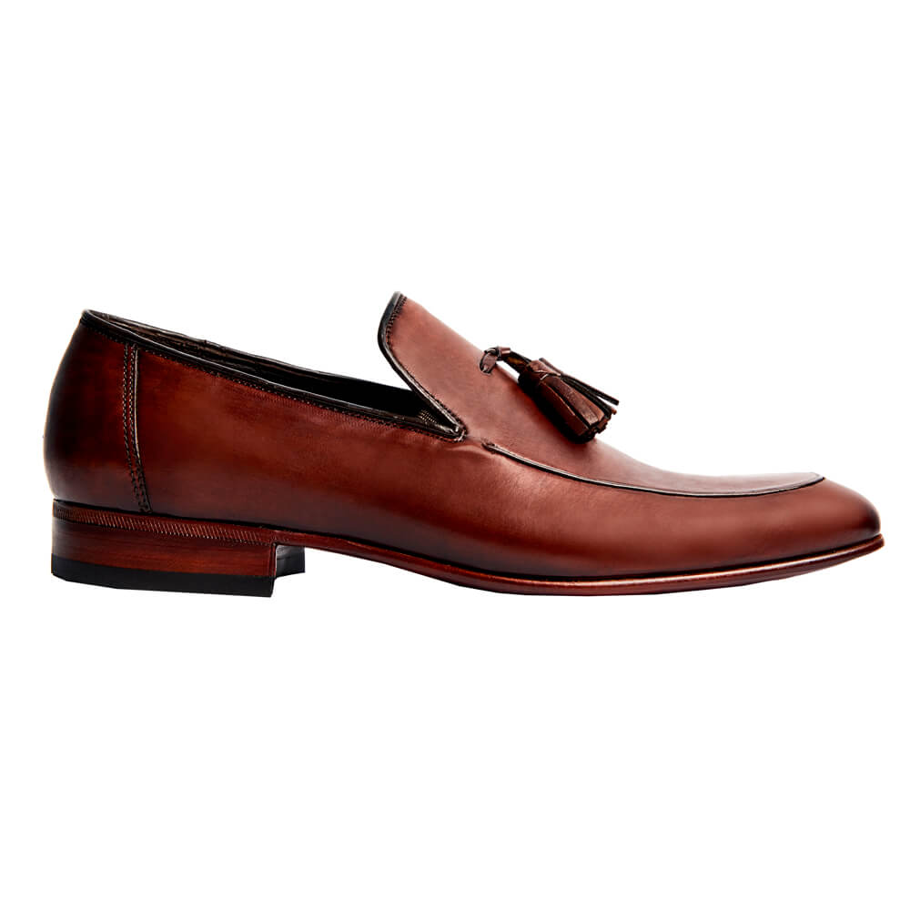 Sapato Masculino Tassel Loafer cor Mogno 4001PMOG