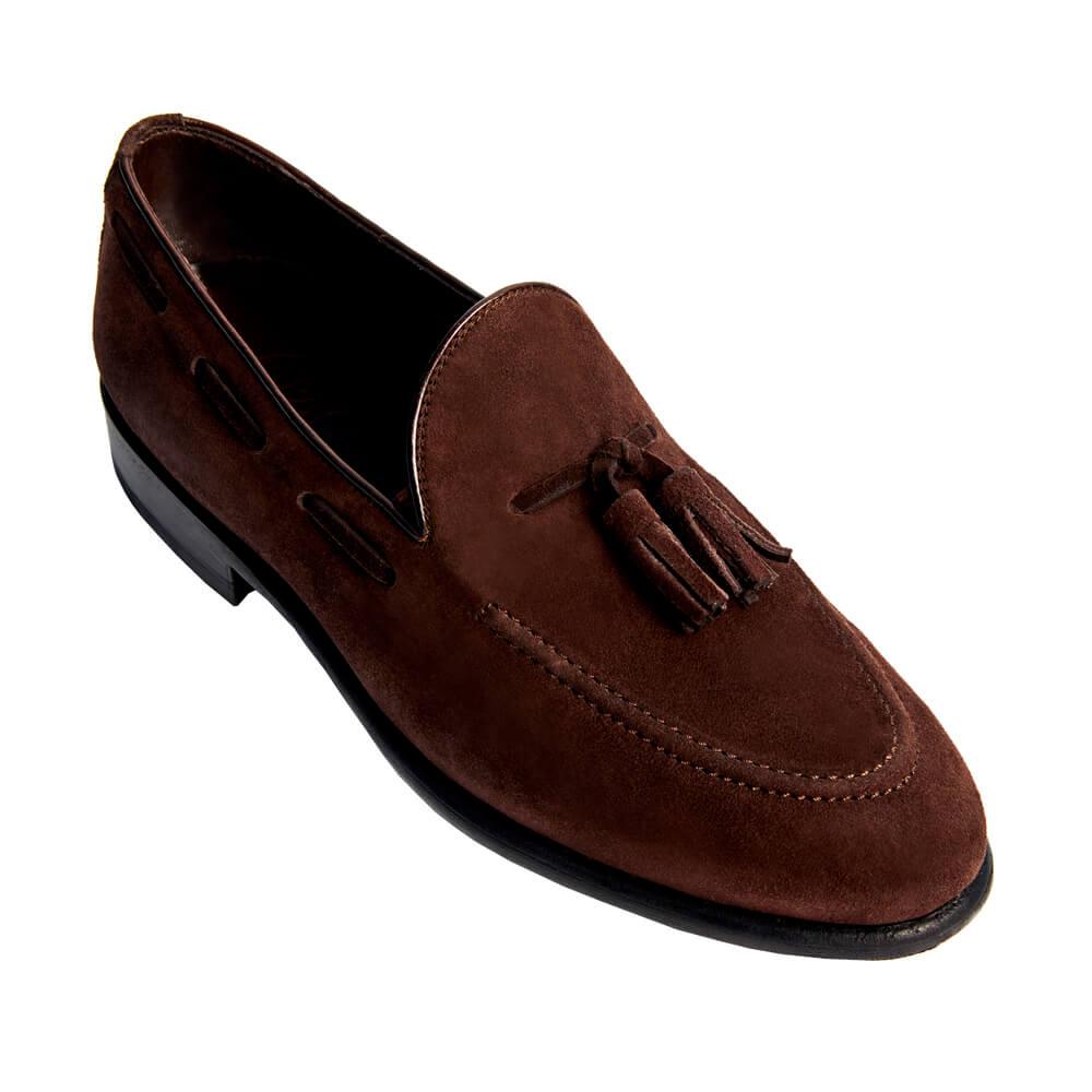 Sapato Masculino Tassel Loafer em Camurça 019CAMCAF Windsor