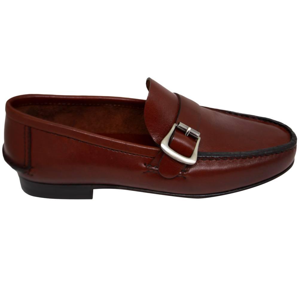 Sapato Masculino Mocassim Argentino cor Pinhão 066FNPIN