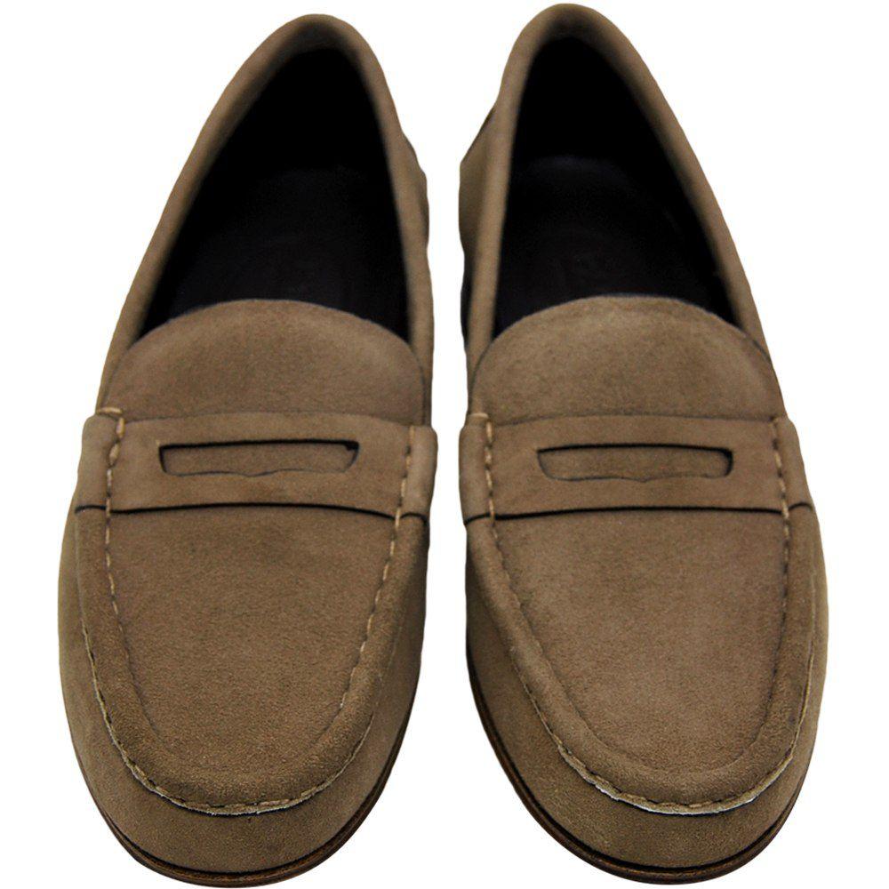 Sapato Mocassim Feminino em Camurça 011MTAU