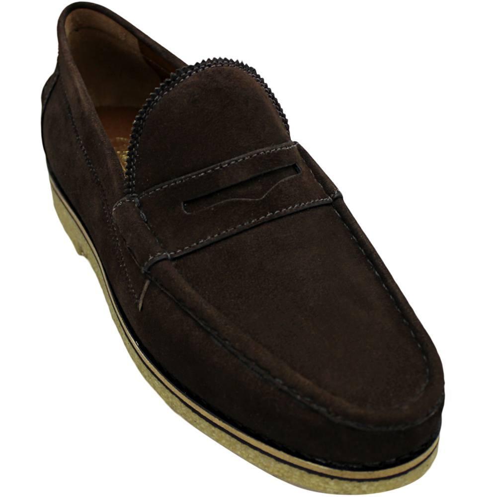 Sapato Masculino em Camurça Solado em Crepe 099 JUAN CAF