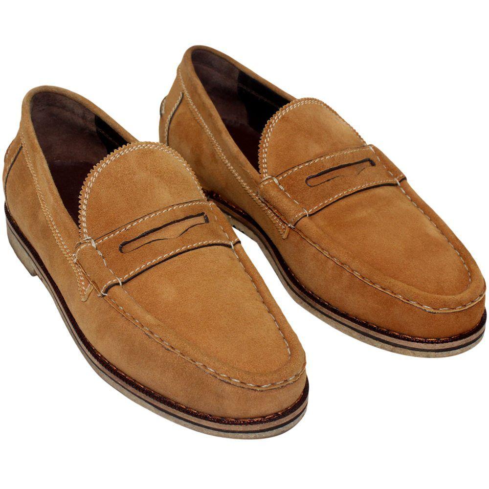 Sapato Masculino Mocassim Casual Solado Crepe 099CAMHC
