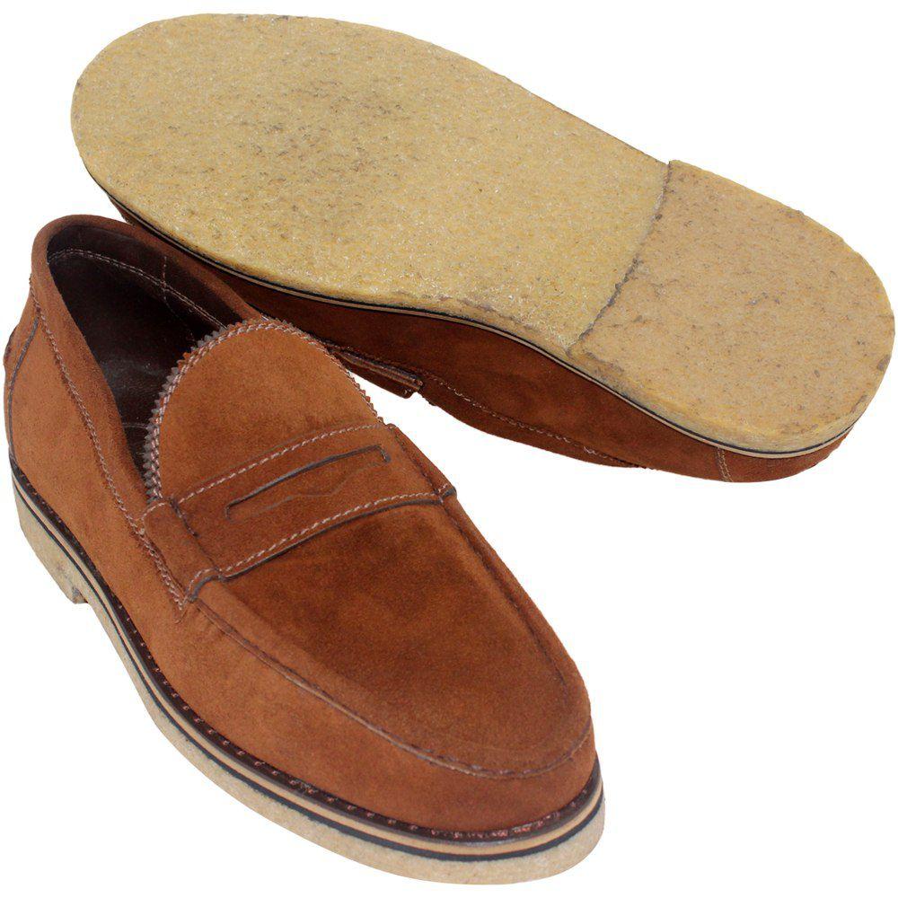 Sapato Masculino Mocassim Casual Solado Crepe 099CAMTERMAR