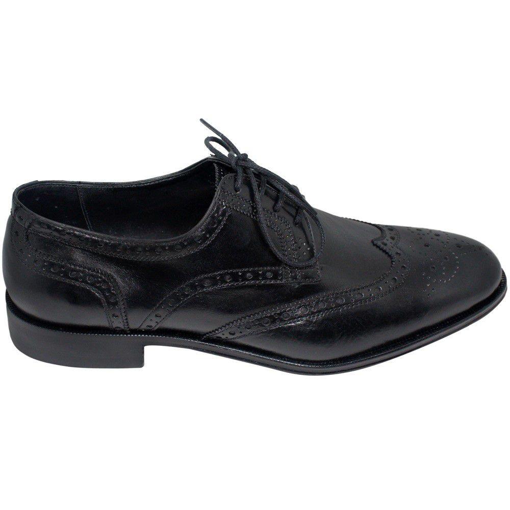 Sapato Oxford Brogue Cor Preto 301PRE
