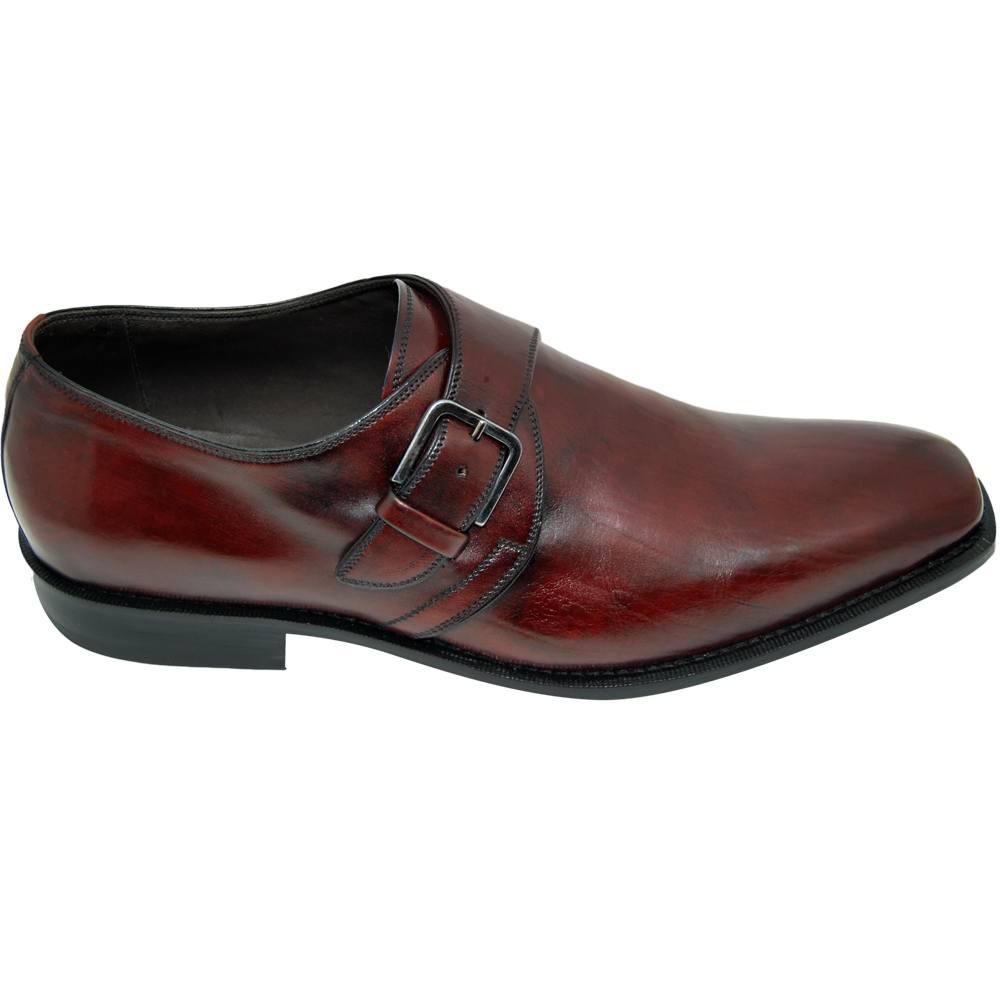 Sapato Masculino Social Monk cor Vinho 051VIN