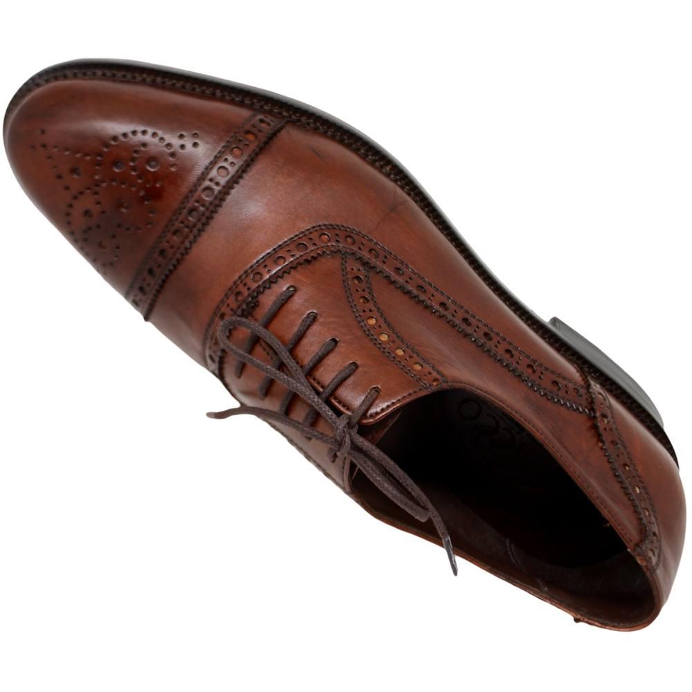 Sapato Masculino Oxford Half Brogue cor Mogno 299INGMOG
