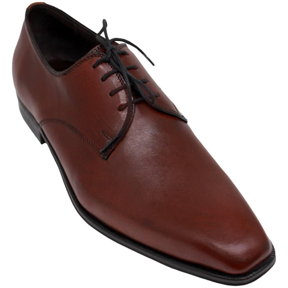 Sapato Masculino Derby Plain Toe cor Mahogany 303LMAG