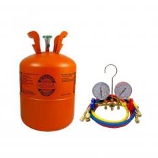 Kit Gás R404A Refrigerante 10,90Kg + Manifold