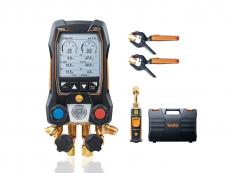 Manifold Digital 4 Vias com Vacuômetro, Bluetooth e Sondas sem fio Testo 557S