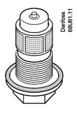 Orifício Danfoss para Válvula n°03 (TE5)