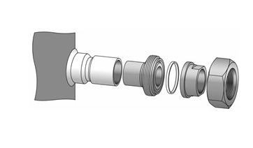 Adaptador para Compressor Maneurop/Bitzer