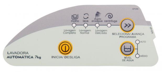 Adesivo Painel Lavadora Consul CWC24A 7kg