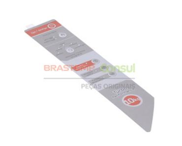 Adesivo para Painel Lavadora Brastemp BWG10
