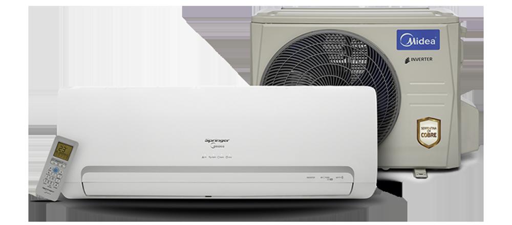 Ar Condicionado Split Inverter Springer Midea 9.000 BTUs Quente e Frio R410A 220V
